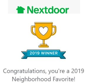 Nextdoor Award 2019 Neighborhood Favorite